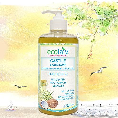 Ecolaiv Castile Pure Coco Liquid Soap
