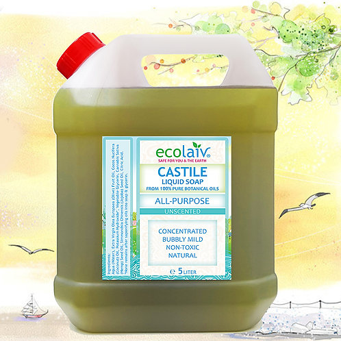 Ecolaiv Castile All Purpose Unscented Liquid Soap
