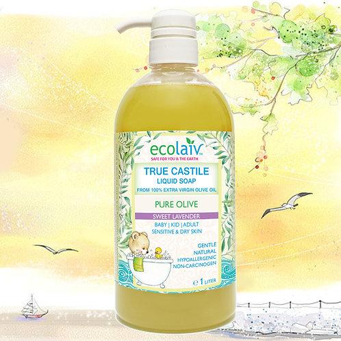 Ecolaiv True Castile Pure Olive Sweet Lavender Liquid Soap