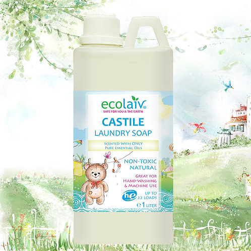 Ecolaiv Castile Laundry Soap (Essential-Oil Scented)