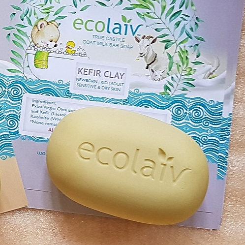 Ecolaiv True Castile Goat Milk Kefir Clay Bar Soap