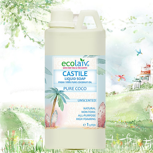 Ecolaiv Castile Pure Coco Unscented Liquid Soap