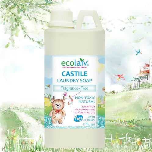 Ecolaiv Castile Laundry Soap (Fragrance-Free)
