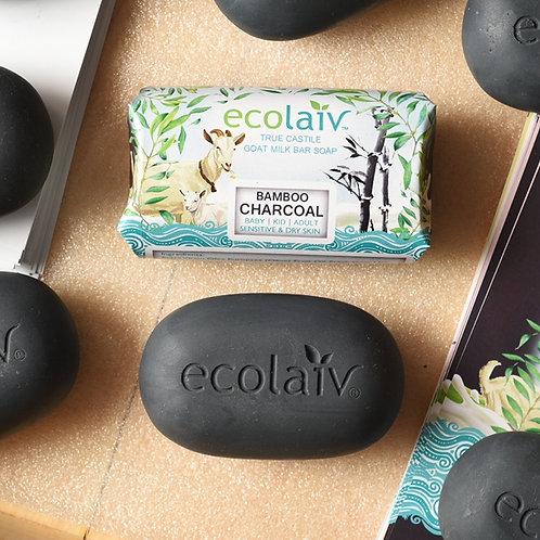 Ecolaiv True Castile Goat Milk Bamboo Charcoal Bar Soap