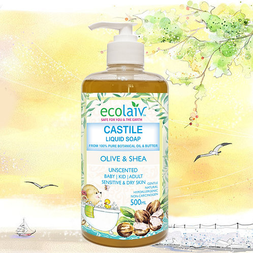 Ecolaiv Castile Olive & Shea Liquid Soap