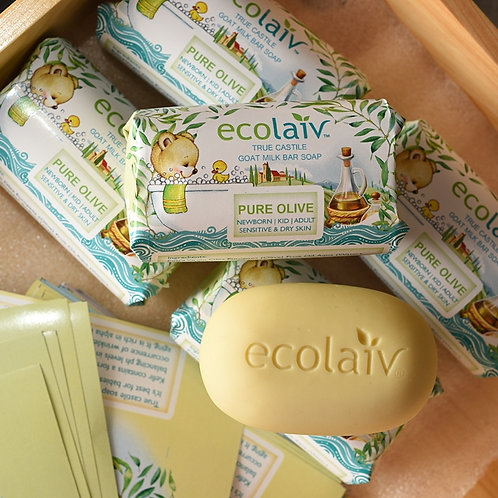 Ecolaiv True Castile Pure Olive Bar Soap