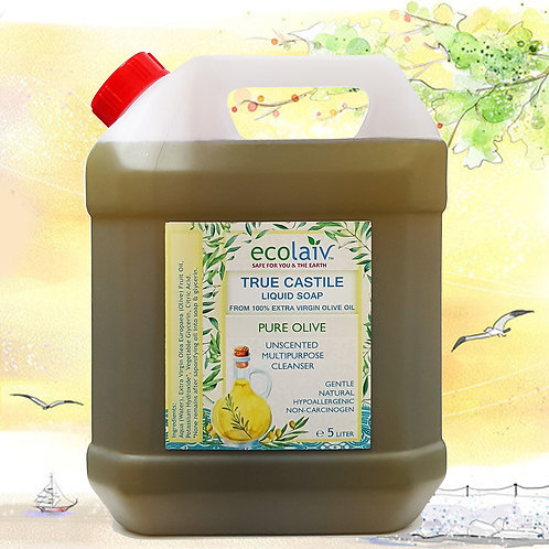 Ecolaiv True Castile Pure Olive Unscented Liquid Soap