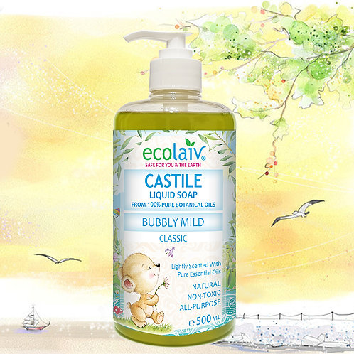 Ecolaiv Castile Bubbly Mild Classic Lightly Scented Liquid Soap