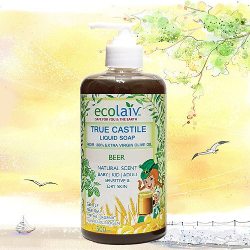 Ecolaiv True Castile Beer Liquid Soap