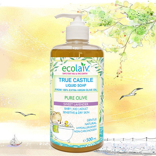 Ecolaiv True Castile Pure Olive Sweet Lavender Liquid Soap