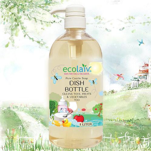 Ecolaiv Dish & Bottle Castile Liquid Soap