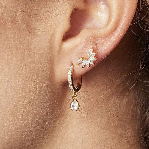 Piercing/oorbel Wing silver