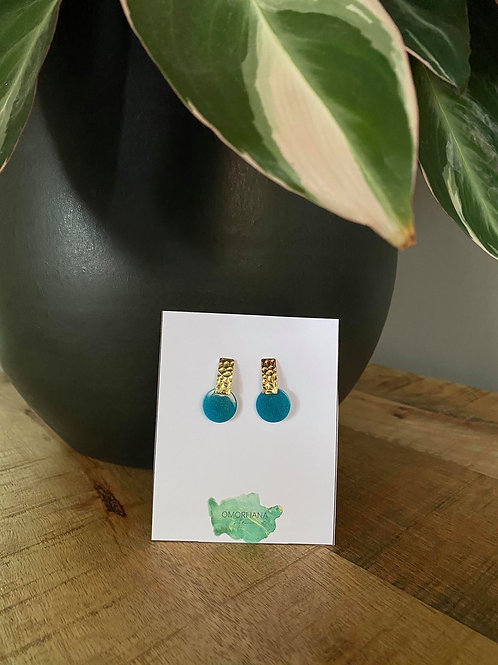 Korte blauwe oorbellen