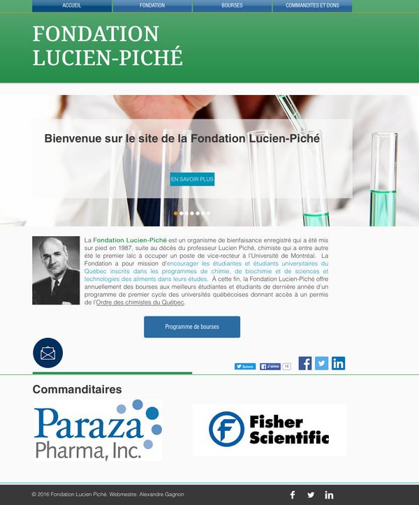 Lancement officiel du nouveau site web de la Fondation Lucien-Piché!