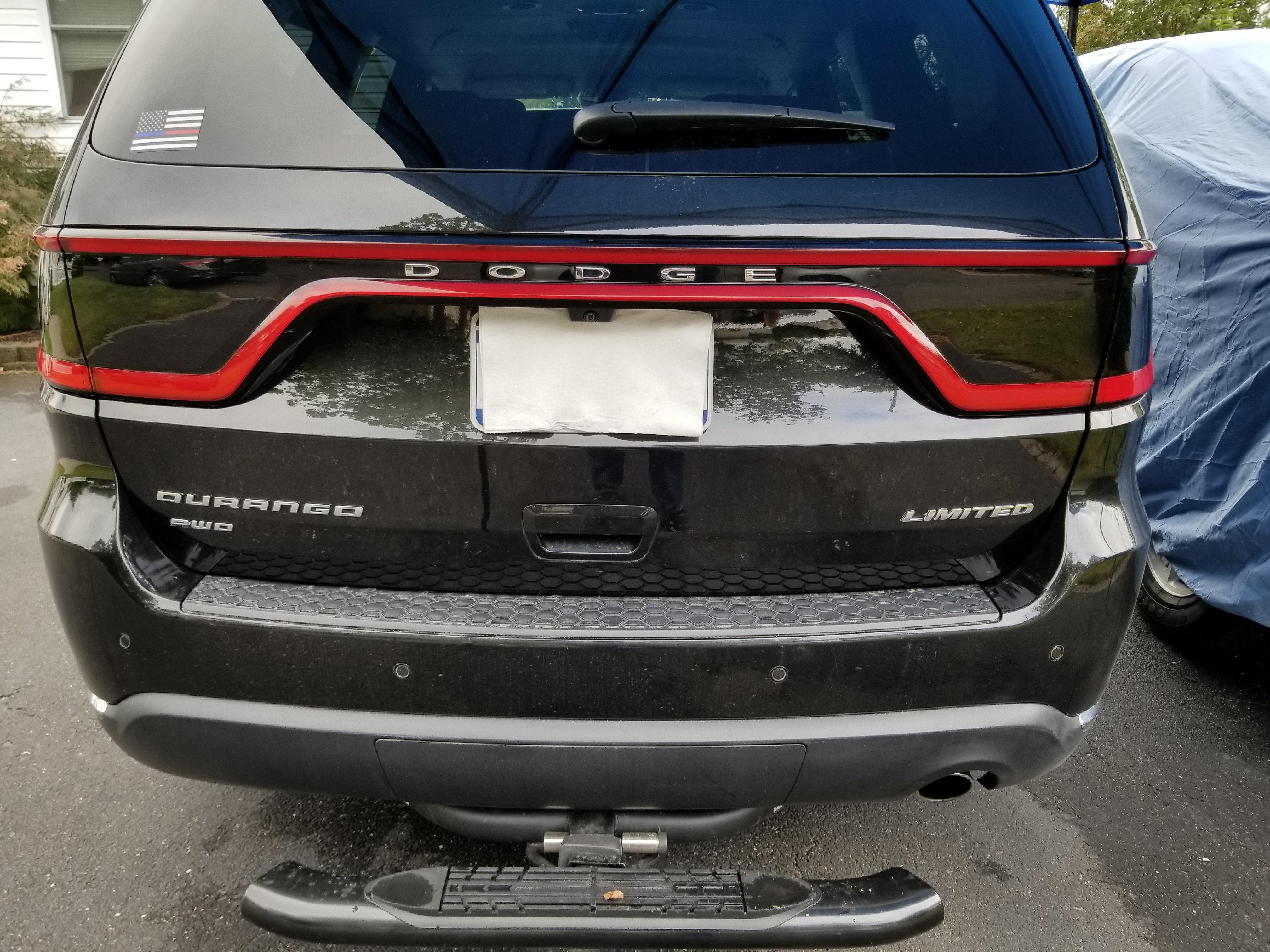 2013 Dodge Durango Tail Light Blackouts Clean Cut Decals