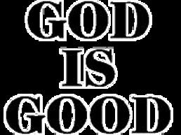 GOD IS GOOD Rear Window Decal