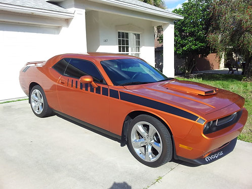 Dodge Challenger factory stripe extension