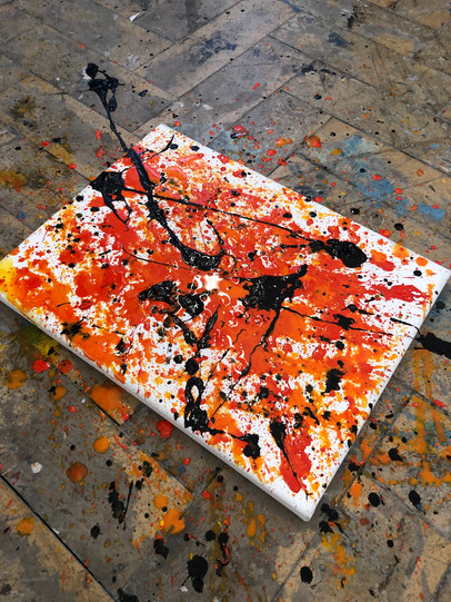 Experimental abstract painting trial no.4