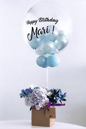 Arranjo com balão M
