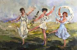 Dance of Apollo 61x91cm oil on canvas £500