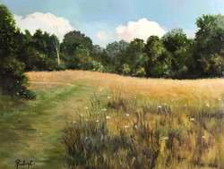 Epping Forest fields 30x40cm oil on canvas £200