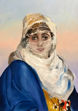 Woman from Constantinople 21x15cm oil on mdf £120