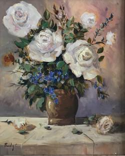 White Roses 38x48cm oil on MDF £150