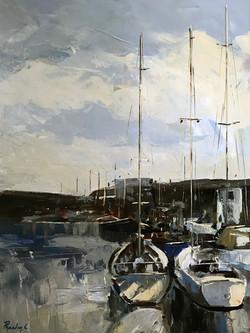 Marina 60x80cm acrylic on canvas £300