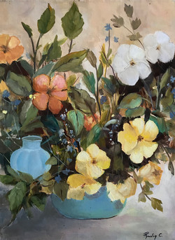 Wild flowers 30x40cm oil on canvas £250.