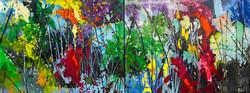 Abstract Landscape diptich 160 X 60cm £1000