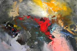 Abstract 70x100cm acrylic on canvas £500