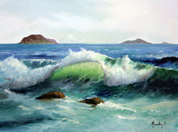 Windy Sea 30x40cm oil on canvas £250