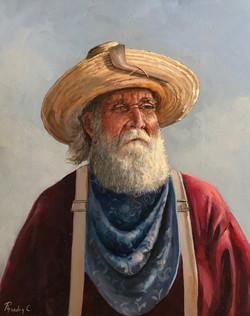 western man 40x50cm oil on canvas £200