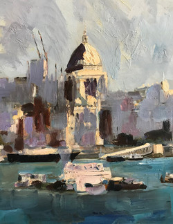 St Paul cathedral London 30x40cm oil on mdf £150