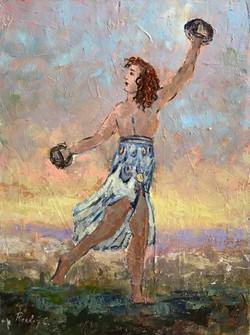 Ancient dancer A 30x40cm 0il on canvas £200