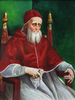 Pope Julius II reproduction 40x30cm on mdf £1700