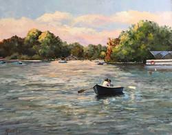Hyde Park 40x50cm oil on canvas £250