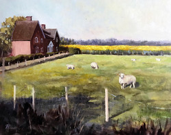 Epping fields 40.5x51cm oil on canvas £200