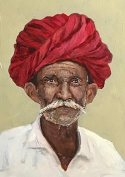 Hindu man 21x15cm oil on mdf  £120