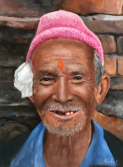 Man from Tibet 30x40cm oil on canvas £25