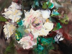 Wild roses 30x40cm oil on mdf £150