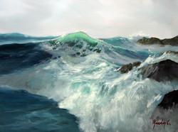 Rocky Coast 30x40cm oil on canvas £250
