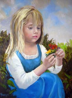 girl in blue SOLD