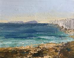 Greek island 25x30cm acrylic on canvas £100