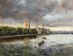 The Parliament-London 40x50cm oil on canvas £250