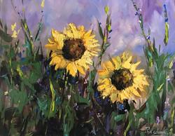 Sun flowers 40x50cm acrylic on canvas £250
