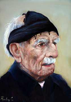 Cretan Old Man 21X15cm oil on mdf SOLD