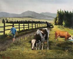 Farm life 40x50cm oil on canvas £ 350