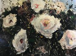 Wild White Roses 60x80cm oil on canvas £350