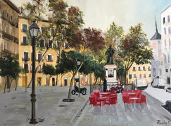 Plaza de Cascorro  Madrid 30x40cm oil on canvas £200